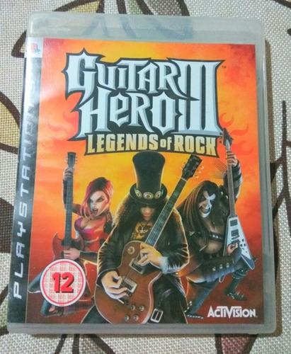 juego gh3 - guitar hero iii legends of rock ps3