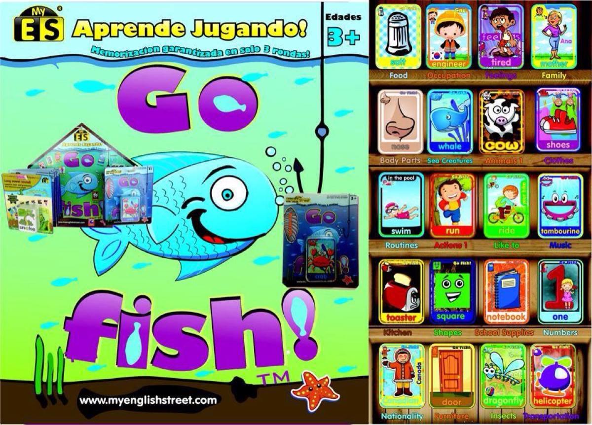 Juego Go Fish De Cartas O De Mesa Para Aprender Ingles 65 00 En