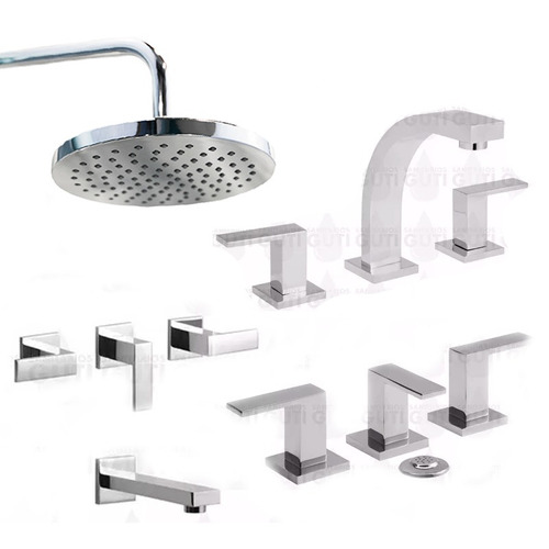 juego griferia baño ducha bide m hydros level duchon metal