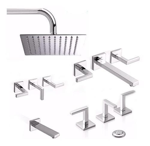 juego grifería baño piazza unique ducha p bide duchon metal