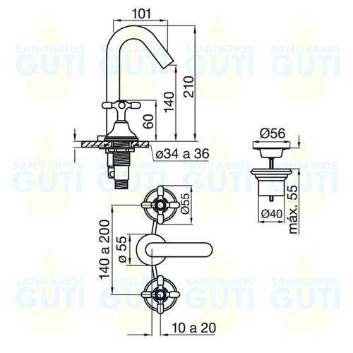 juego griferia fv newport duchamatic duchador lavatorio bide