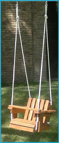 juego hamaca bebe con armazon pino macizo y cuerda náutica
