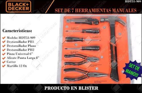 juego herramientas 10 piezas black and decker hdt51-910