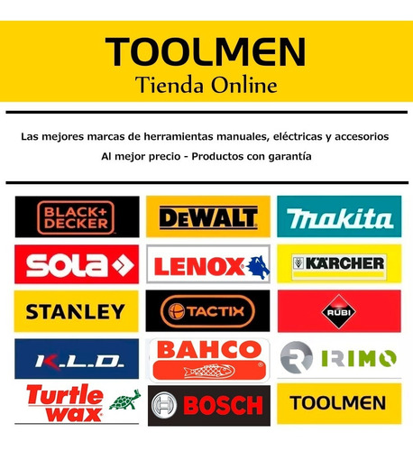 juego herramientas 9 pzas + toolmen t90 + toolmen t95
