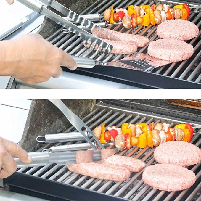 Herramientas Parrilla Barbacoa Juego Set BBQ Acero Inoxidable Fiesta Grill Carne