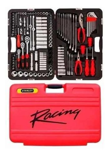 juego herramientas stanley racing caja kit set 150 piezas