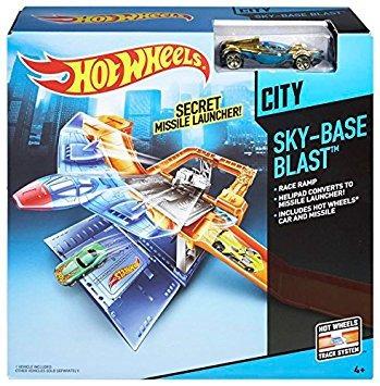 juego hot wheels sky-base límite de pista explosiva