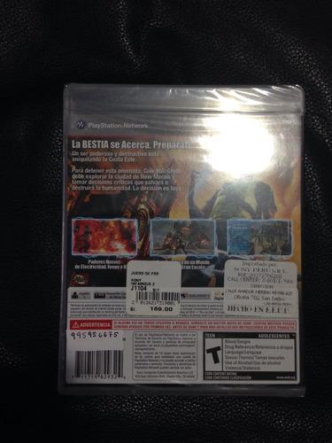 juego infamous 2 ps3 nuevo-sellado