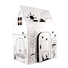 Casa Para Pintar Jardin Sobre Ella De Juego Carton Infantil dCBQeoWrx