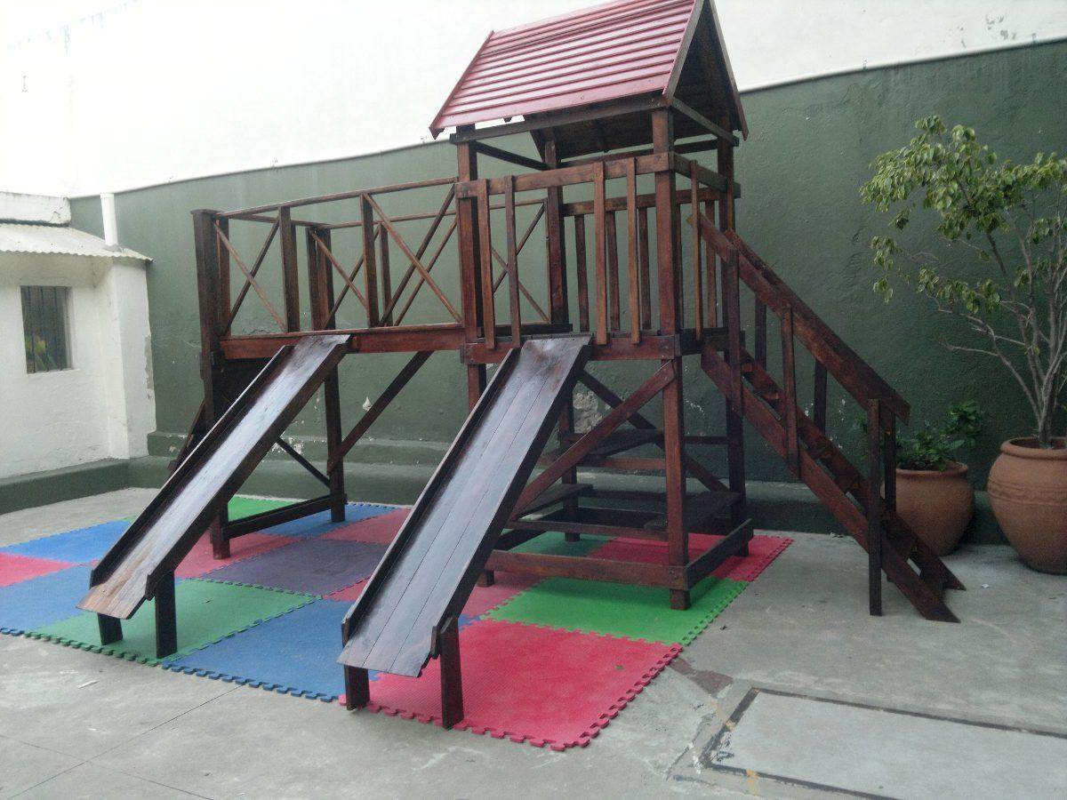 Juego Infantil De Madera -mangrullo C/hamacas,trepadores