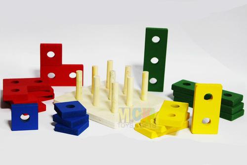 juego infantil didáctico madera encajable aprender 7286