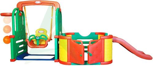 juego infantil para niños resbaladera columpio corral y aro