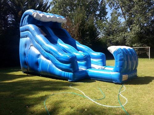 juego inflable acuático ola