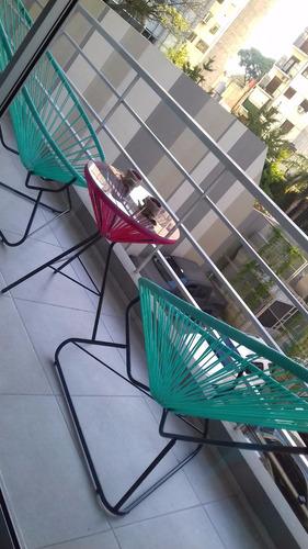 juego jardin acapulco con mesa - sillas sillon cable
