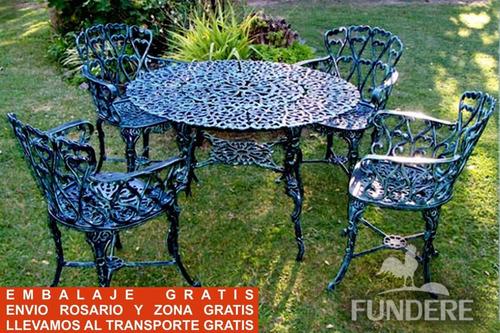 juego jardin aluminio