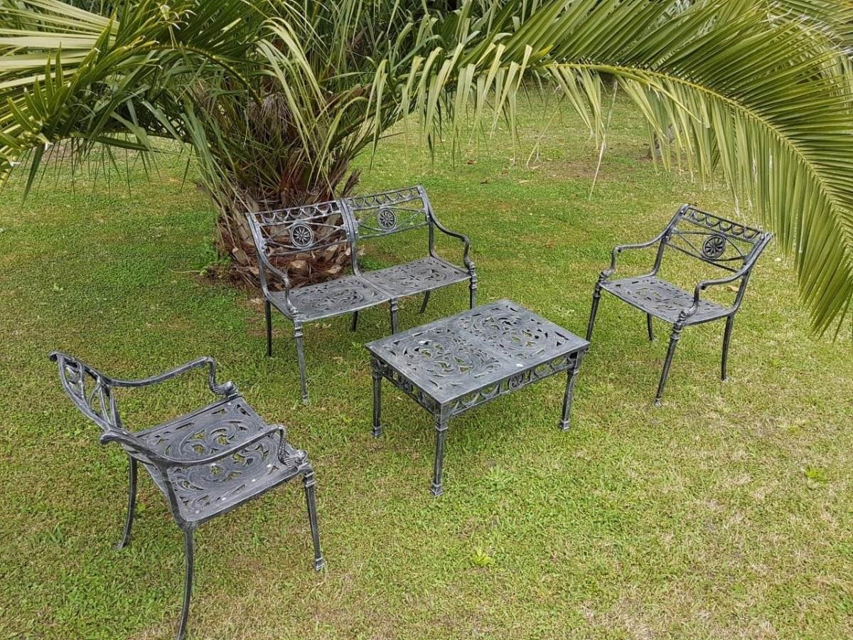 Juego Jardín Aluminio Sutra Living Mesa Y 4 Sillas En Stock ...