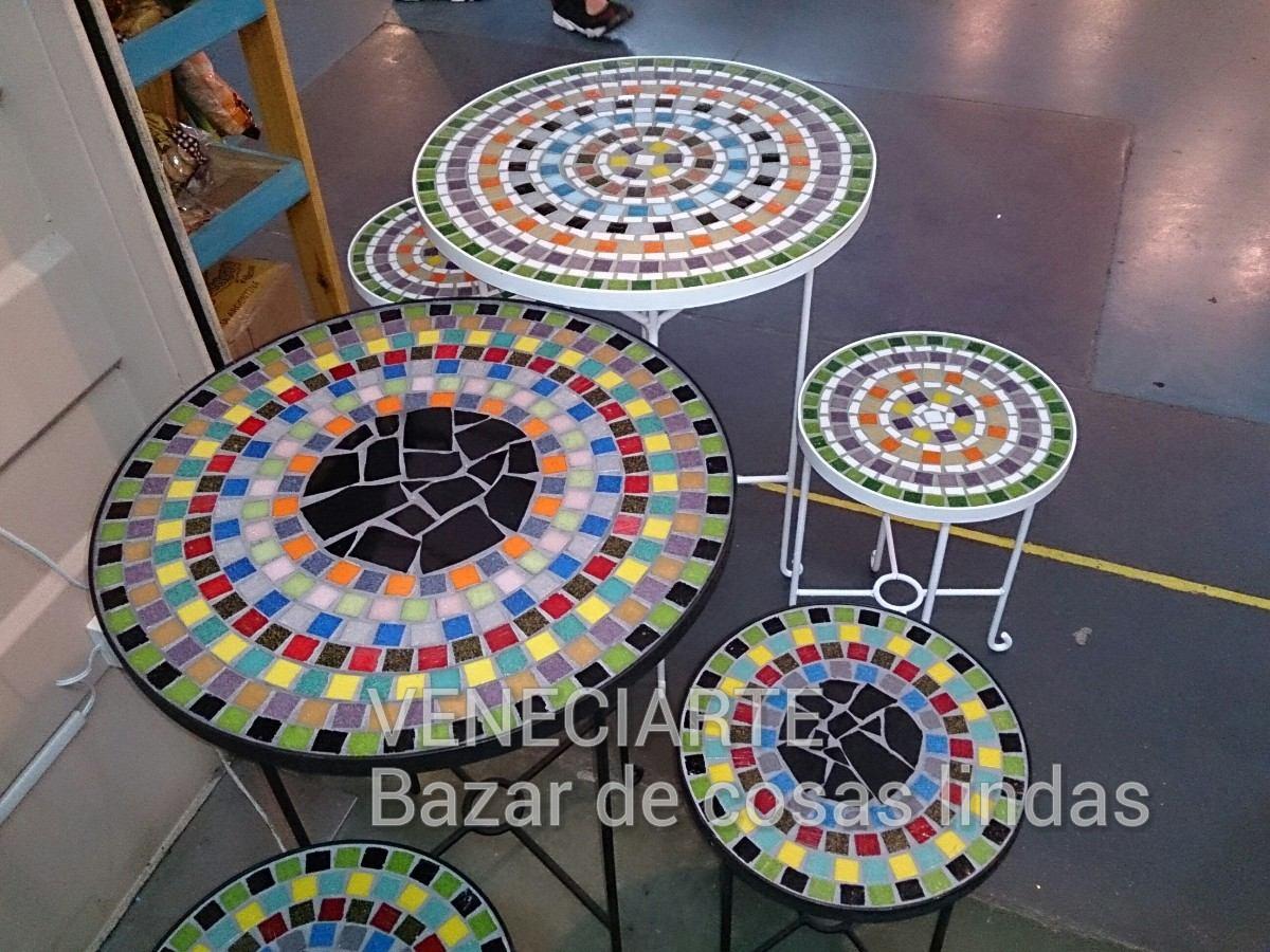 Juego Jardin Exterior Mesa D=60cm + 2 Banquetas Venecitas - $ 5.750 ...