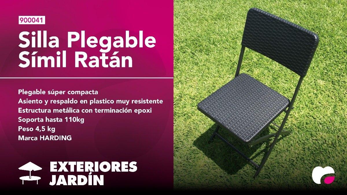Plegable6 Jardín Sillas Juego Mesa Plástico Rattán Símil xtsCdQrh