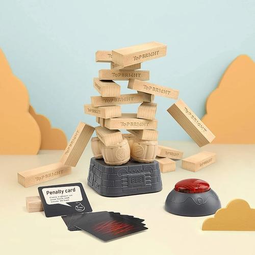 juego jenga explosivo de madera didactico top bright tpb071