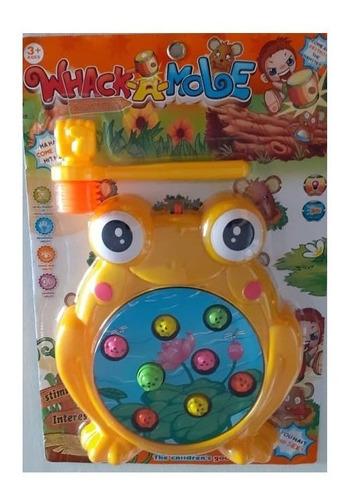 juego juguete martillo sapo luces sonido atrapa al pez