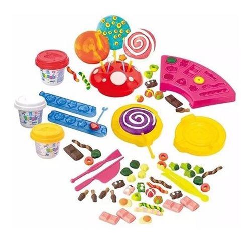 juego juguete set de masas de niño niña alimentos didáctico