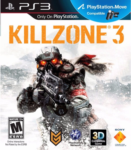 juego killzone 3 original en caja playstation 3