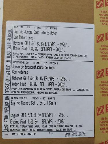 juego kit empacaduras corsa 1.6 1.8 1.4 meriva montana sabo
