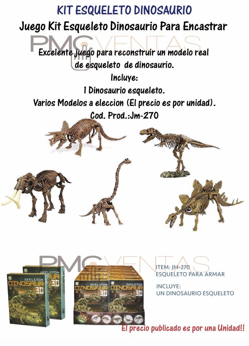 Juego Kit Esqueleto Dinosaurio Para Encastrar Varios Modelos - $ 189 ...