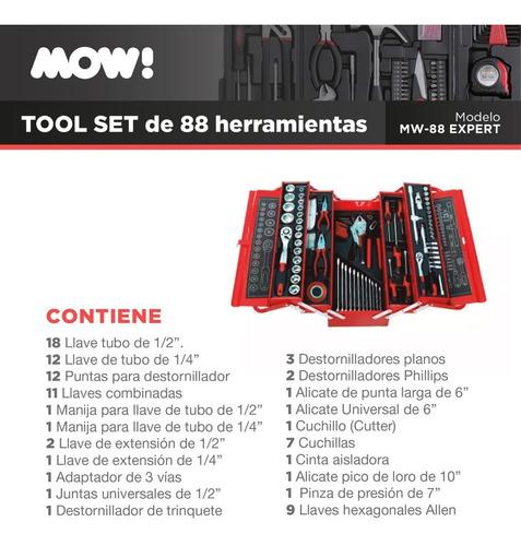 juego kit herramientas en maletin set 88 pcs racing premium