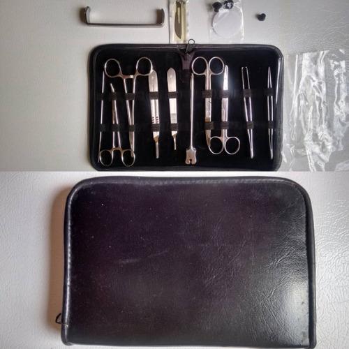 juego kit quirurgico de 13 piezas de acero inoxidable