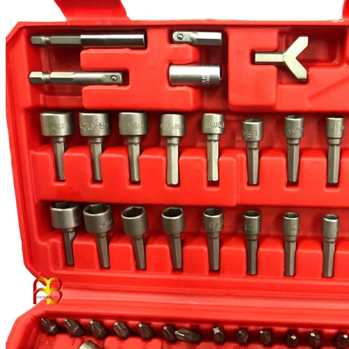 juego kit set de puntas 122 piezas destornillador con mango