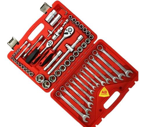 juego kit set herramientas tubos bocallaves 60 piezas profe