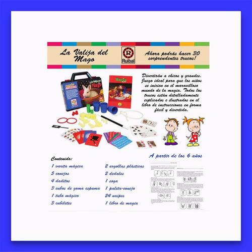 juego la valija del mago ruibal + 6 años microcentro lelab