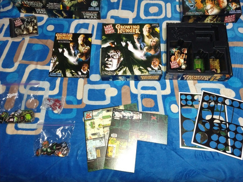juego last night on earth, 2 expansiones y 3 adicionales!!