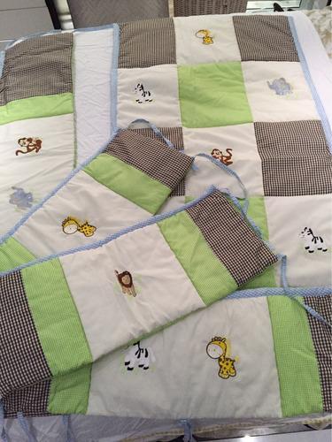 juego lencería safari con mosquitero y alfombra