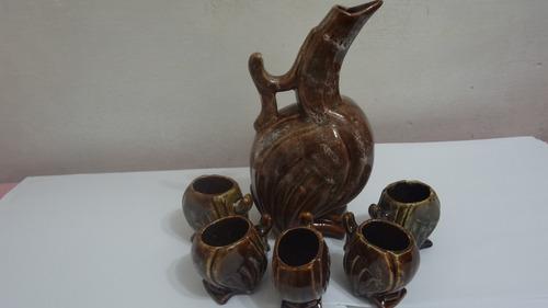 juego licorera con copitas de porcelana