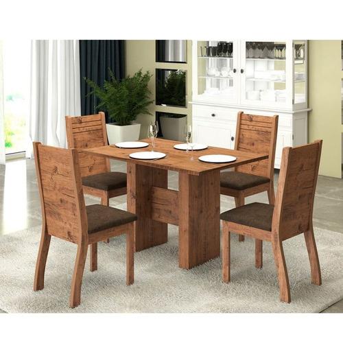 juego living moderno mesa sillas madera comedor oferta envio
