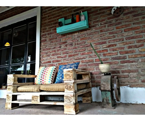 juego living muebles  palets pallets