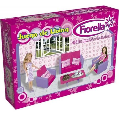 juego living para muñecas