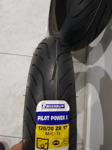juego llantas michelin power pilot 3