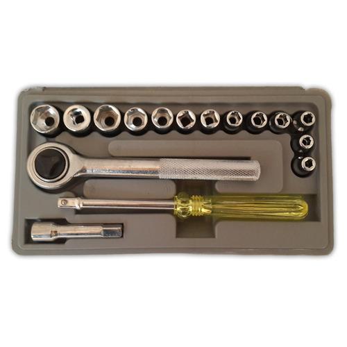juego llave criquet destornillador dados 17 piezas estuche
