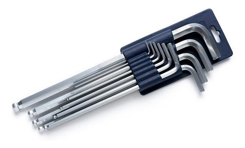 juego llaves allen largas bremen® 10 pz milimetro punta bola