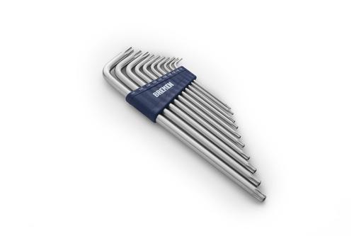 juego llaves torx largas bremen 10 pz t8 a t50 herramientas cod. 6907 dgm