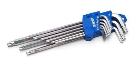 juego llaves torx largas bremen® 4159   9 pz t10 a t50