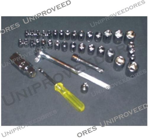 juego llaves tubos x 40 piezas + criquet 3/8  uniproveedores