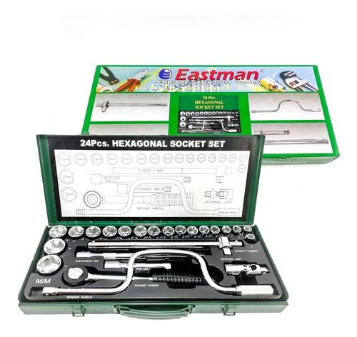 juego llaves y copas marca eastman 38 piezas trabajo pesado