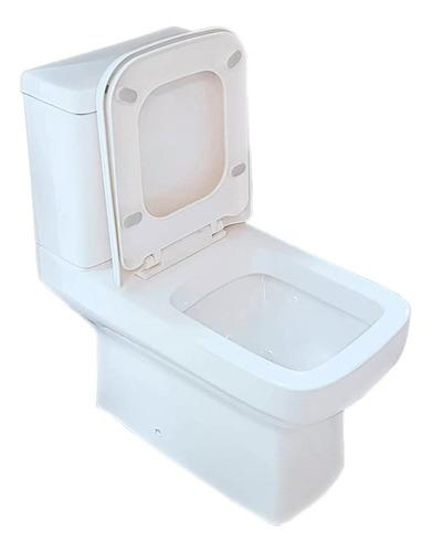 juego loza sanitarios pringles dioniso inodoro largo deposito tapa inodoro doble descarga 3 y 9 lts ahorro agua blanco