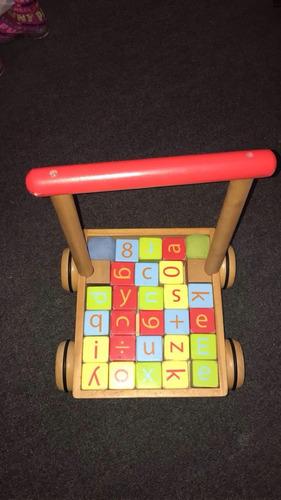 juego madera letras para niños