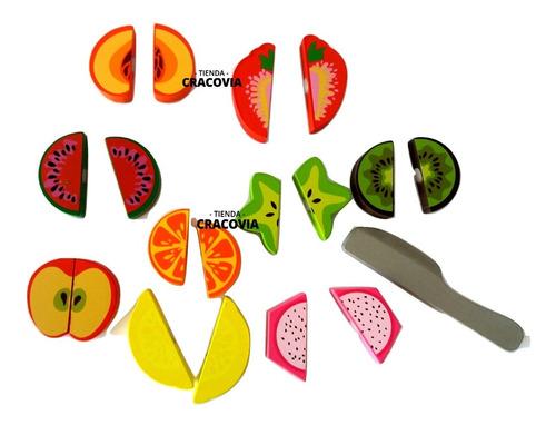 juego madera para cortar frutas grande didáctico con abrojo