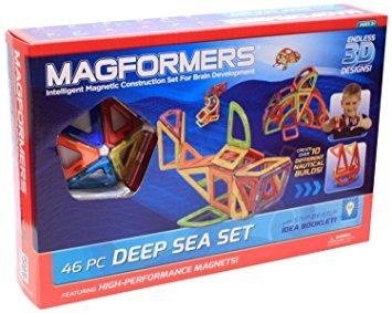 juego magformers deep sea set (46 piezas)